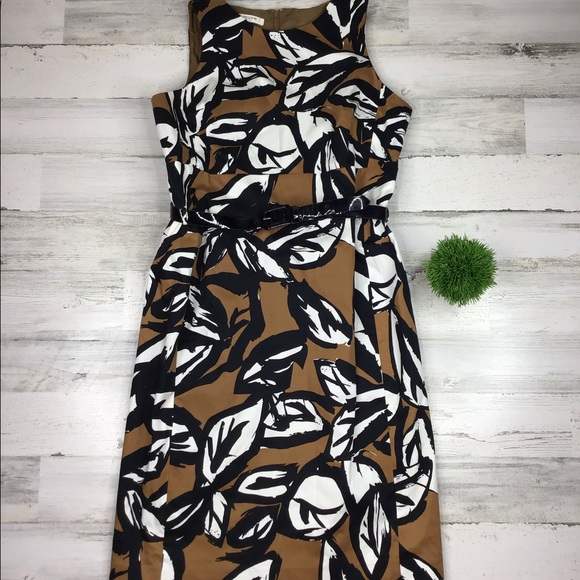 Evan Picone Dresses & Skirts - Evan Picone Floral Sheath Dress Belted Size 14